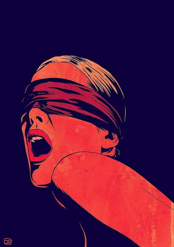 Giuseppe Cristiano art blindfolded red
