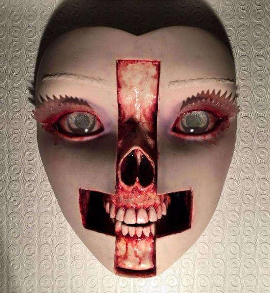 Grotesque art Colin Christian cross-w636-h600