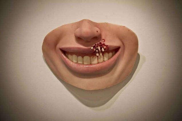 Grotesque art Colin Christian mouth-w636-h600