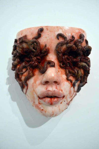 Grotesque art Colin Christian worms-w636-h600