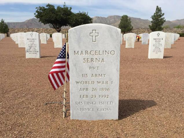Marcelino Serna mexican wwi hero headstone