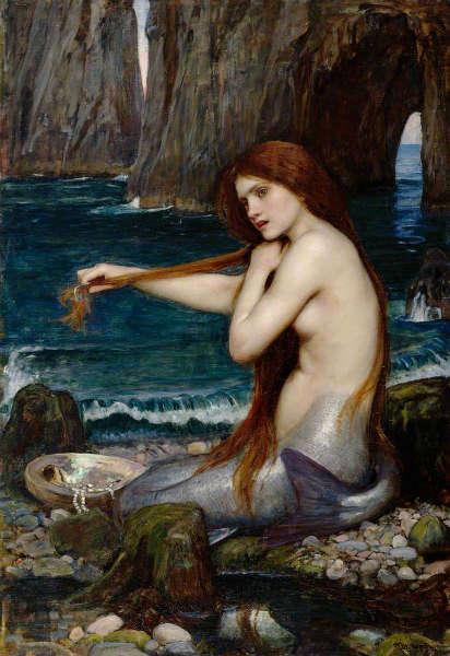Mermaid mythology comb and mirror 4