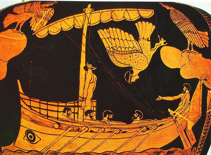 Mermaid mythology greek jar