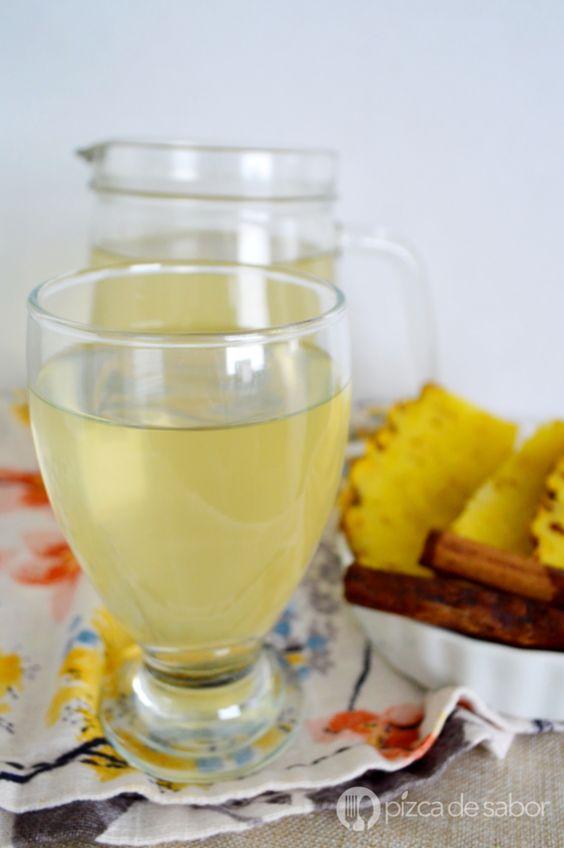 bebidas para tener abdomen plano agua de pina