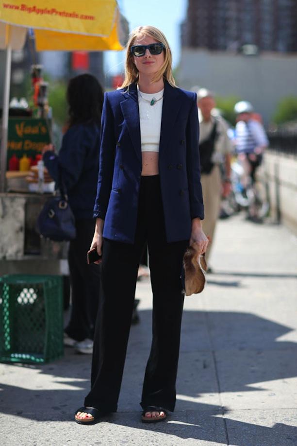 Vestido azul saco negro