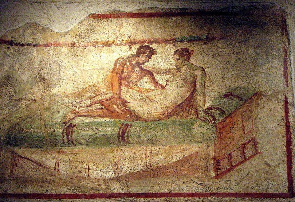 clubes sexuales en pompeya lupanar pintura pareja