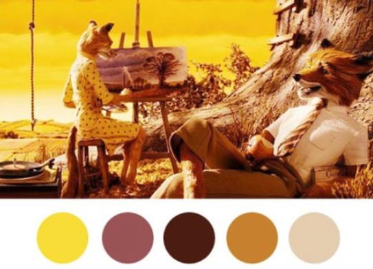 colores en el cine amarillo u ocres