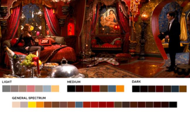 colores en el cine amarillos y rojos