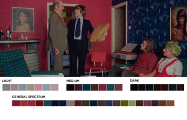 colores en el cine analogos