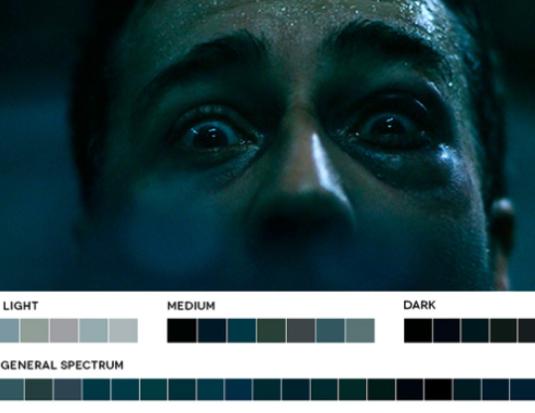 colores en el cine azules