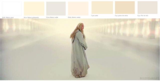 colores en el cine blancos