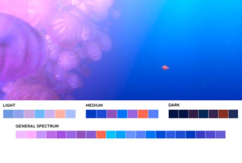 colores en el cine rosa y violeta
