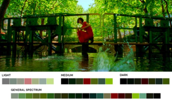 colores en el cine verdes