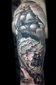 dementia tatuajes de barcos