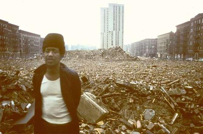 derrumbe fotografias de nueva york en los 80