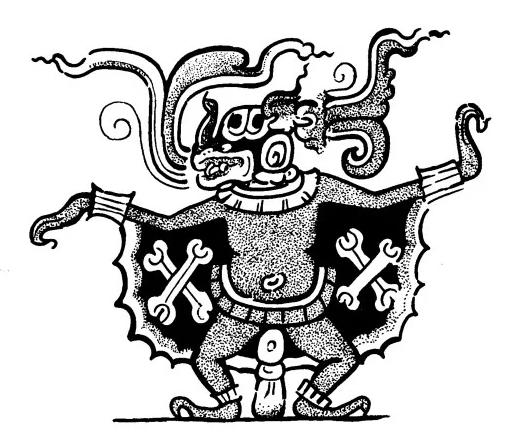 dios murcielago representación gráfica