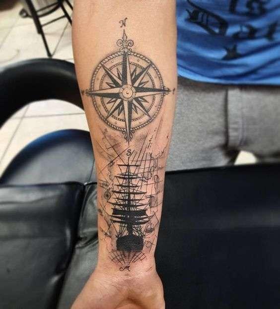 estrella tatuajes de barcos