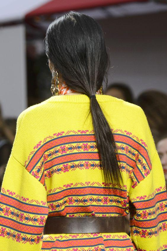 formas de llevar cabello lacio coleta