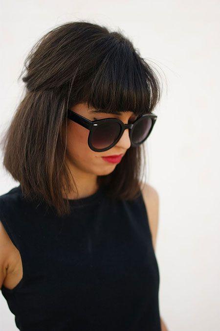 formas de llevar cabello lacio fleco corto