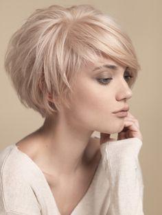 formas de llevar cabello lacio pixie rosa