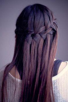 formas de llevar cabello lacio trenza