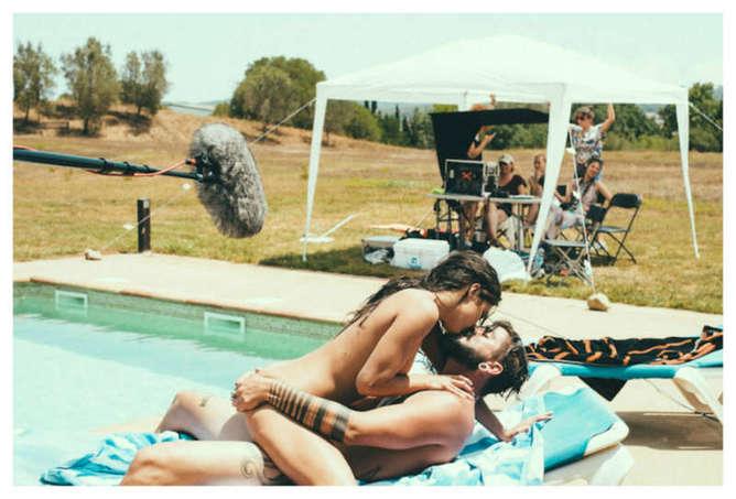 fotografias desde el set de una pelicula porno behind the scenes