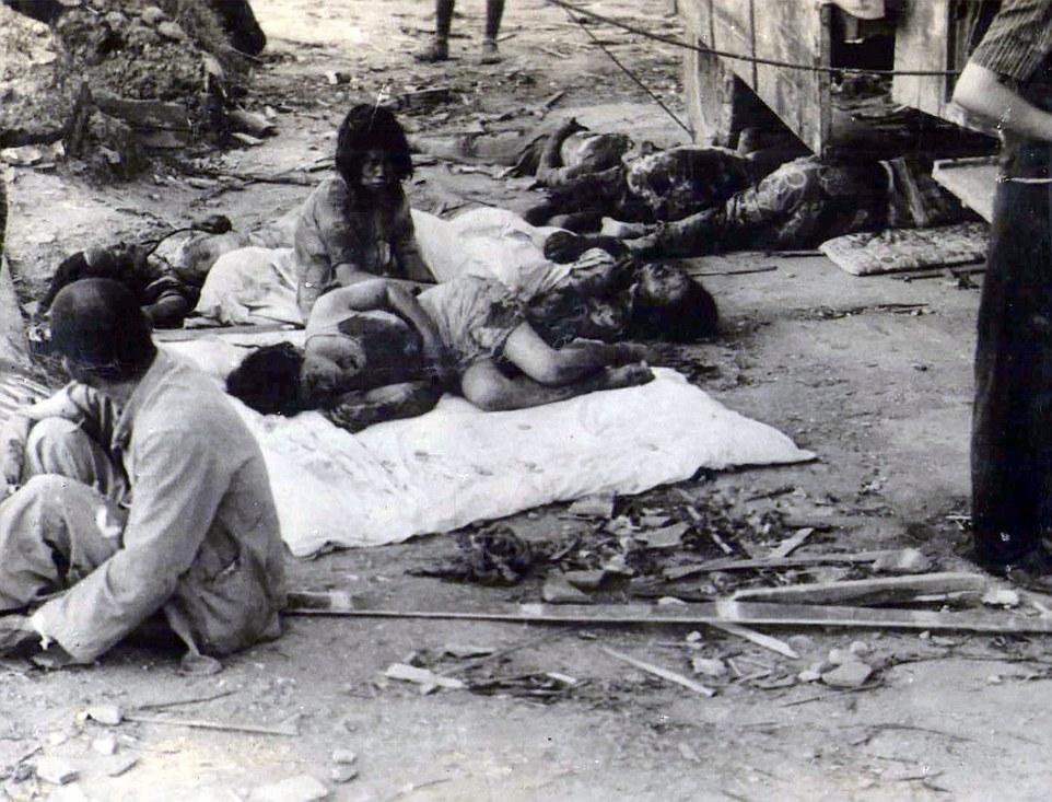 hiroshima despues de la bomba atomica victimas en las calles