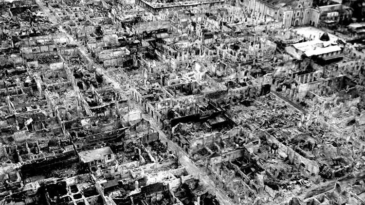 hiroshima despues de la bomba atomica vista aerea