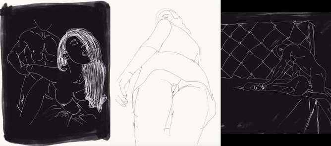 ilustraciones de lo que disfruta una mujer en la cama cama-h600