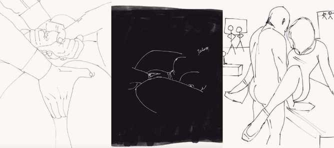 ilustraciones de lo que disfruta una mujer en la cama escritorio-h600