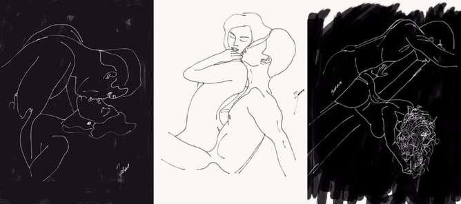 ilustraciones de lo que disfruta una mujer en la cama piso-h600
