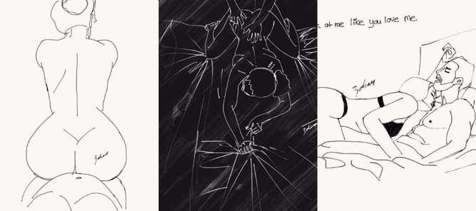 ilustraciones de lo que disfruta una mujer en la cama sabana-h600
