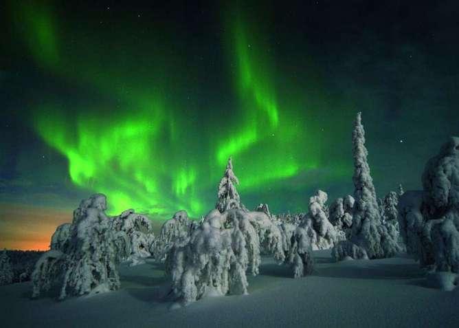 lugares mas surrealistas del mundo auroras boreales finlandia