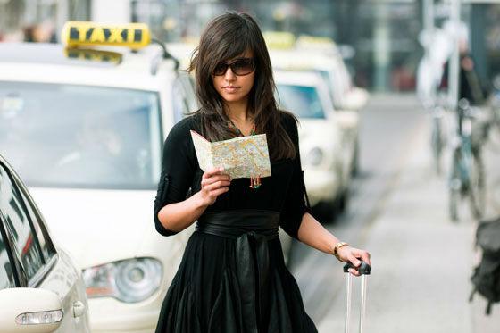 mujer viaje