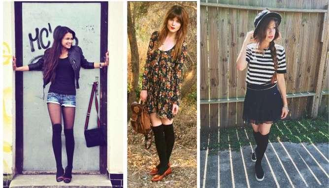 outfit con flats calcetas
