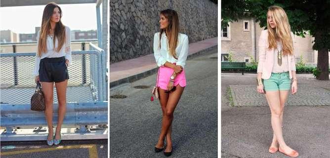 outfit con flats short short
