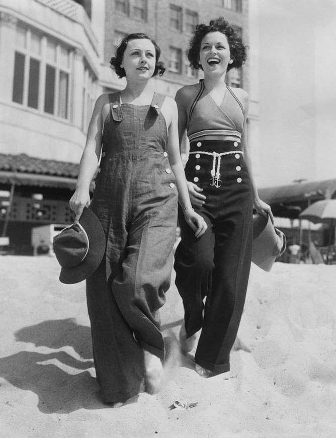 outfits chica retro chicas playa