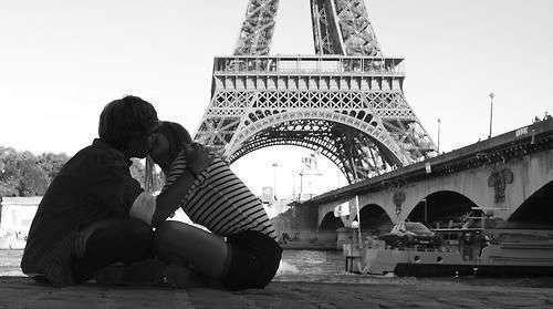pareja amor paris