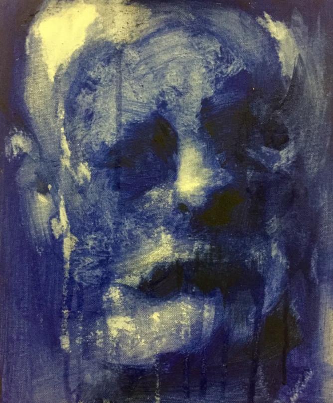 pinturas deprimentes azul