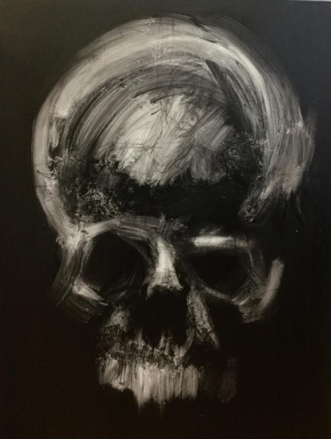 pinturas deprimentes craneo