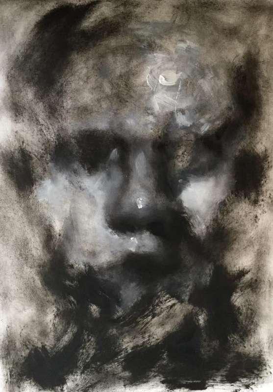 pinturas deprimentes rostro