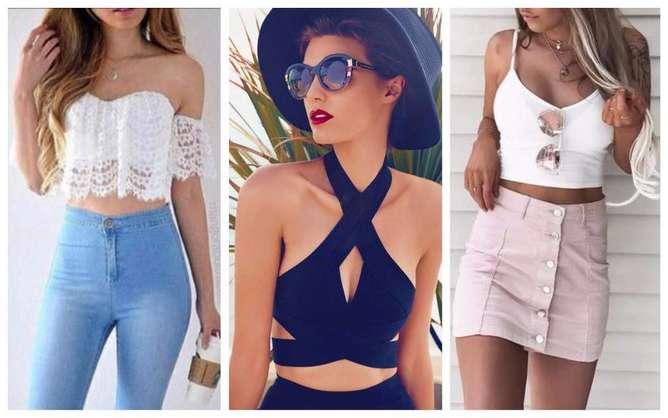 prendas de moda para mujeres bajitas crop tops
