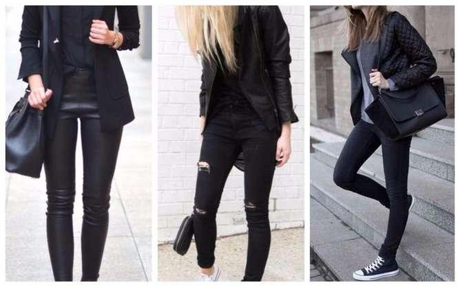prendas de moda para mujeres bajitas negro