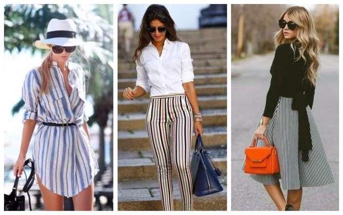 prendas de moda para mujeres bajitas  rayas