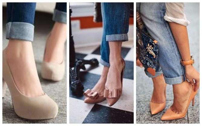 prendas de moda para mujeres bajitas zapatos nudes