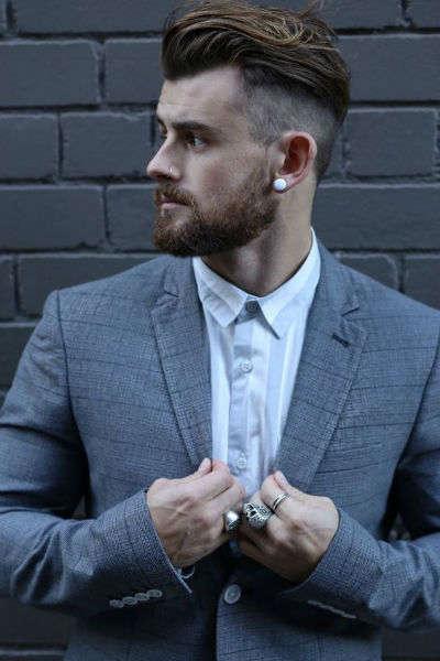 reglas de moda para hombres arete