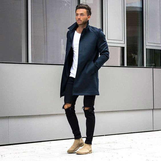 reglas de moda para hombres azul negro