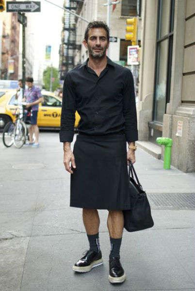 reglas de moda para hombres falda