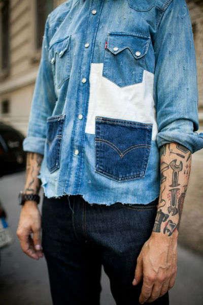reglas de moda para hombres mezclilla
