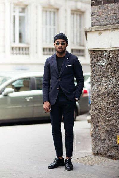 reglas de moda para hombres negro azul